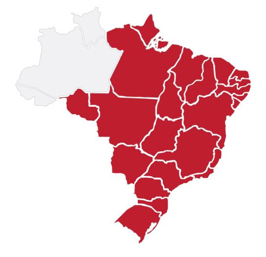 Mapa de Atuação CLP