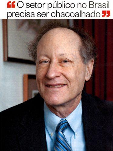 """Steven Kelman: """"o setor público no Brasil precisa ser chacoalhado"""""""