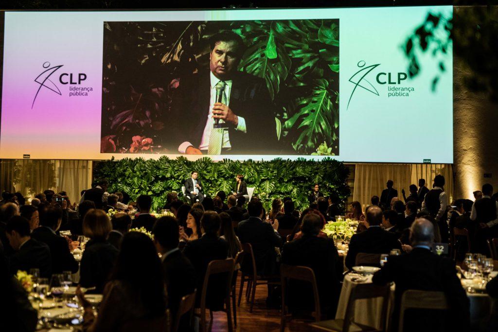 Rodrigo Maia em painel no jantar anual do CLP em 2019